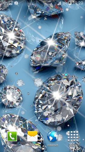 鑽石促進女孩動態壁紙