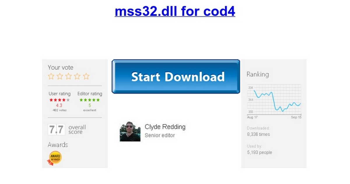 Call Of Duty 2 Mss32 Dll File Download