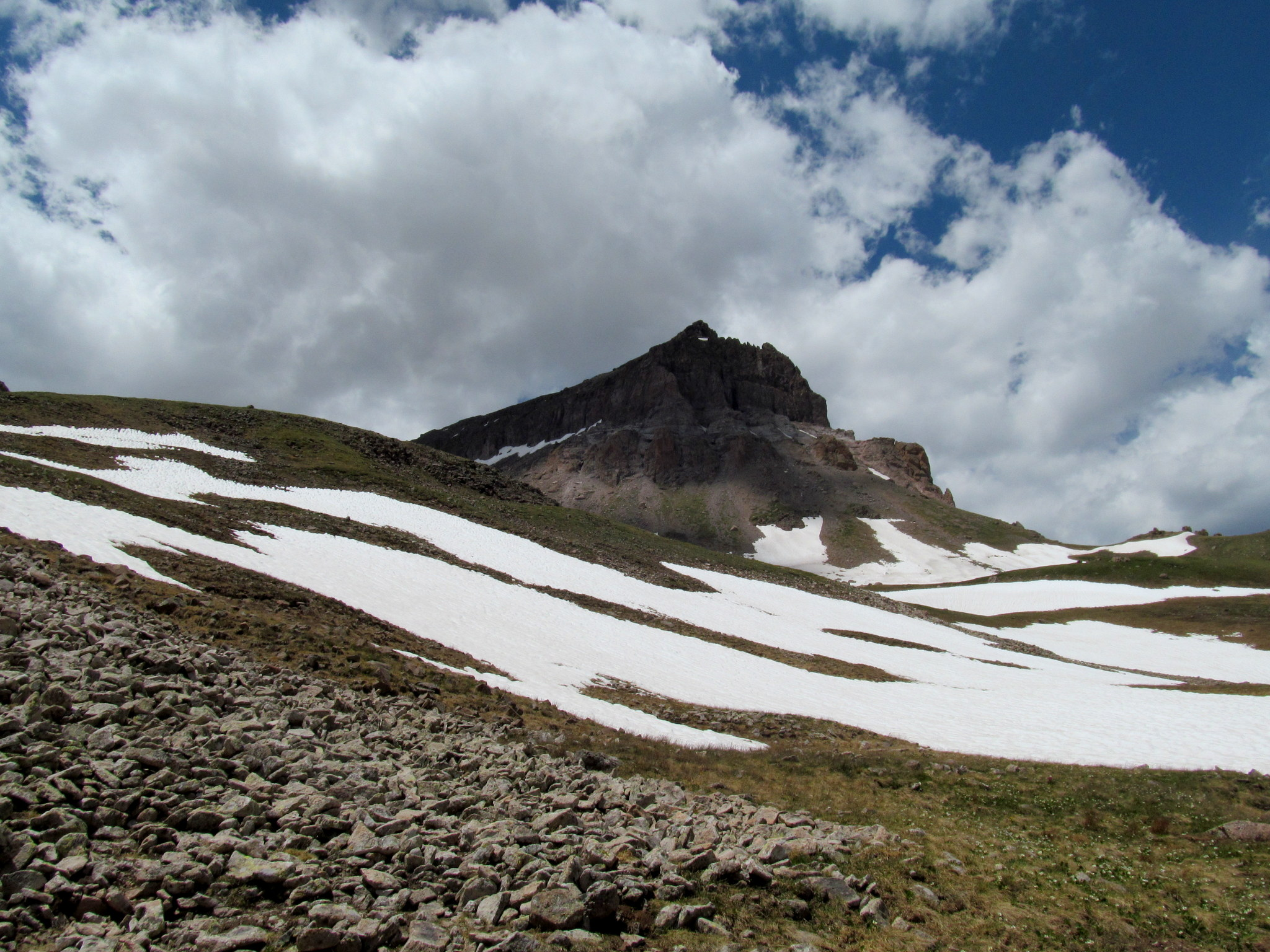 Photo: A dark Uncompahgre Peak during the descent