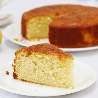 Olive Oil Lemon Drizzle Cake.