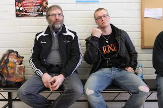 Photo: Kalle Helenius ja ammattinyrkkeilijä Petter Antman