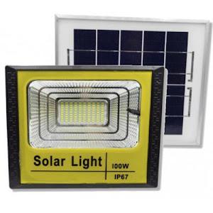 Proiector 200 W cu panou solar si telecomanda