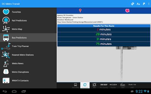 DC Metro Transit Info - Free screenshot 13