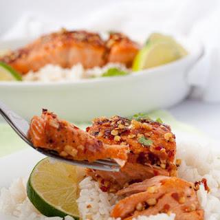 Honey Chili Lime Glazed Salmon.
