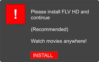 Deceptive ad claiming to be an installer for a required component.