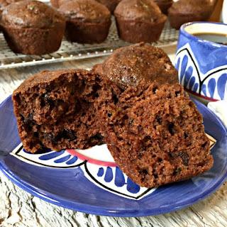 Chocolate Zucchini Muffins.