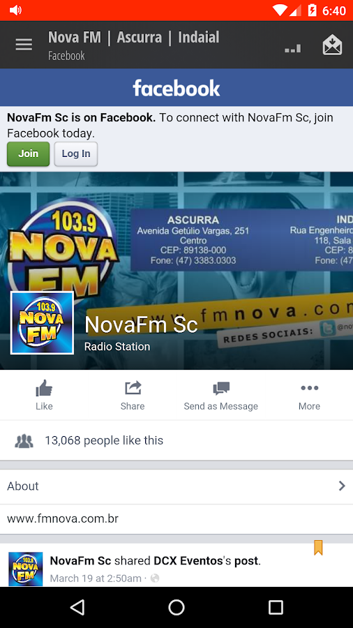 Nova FM | Ascurra | Indaial- screenshot