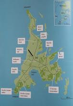 Photo: Örö-kirjan kartta. Joidenkin paikkojen sijainti oli minusta tässä paljon selkeämmin kuin tuossa esitteen kartassa.