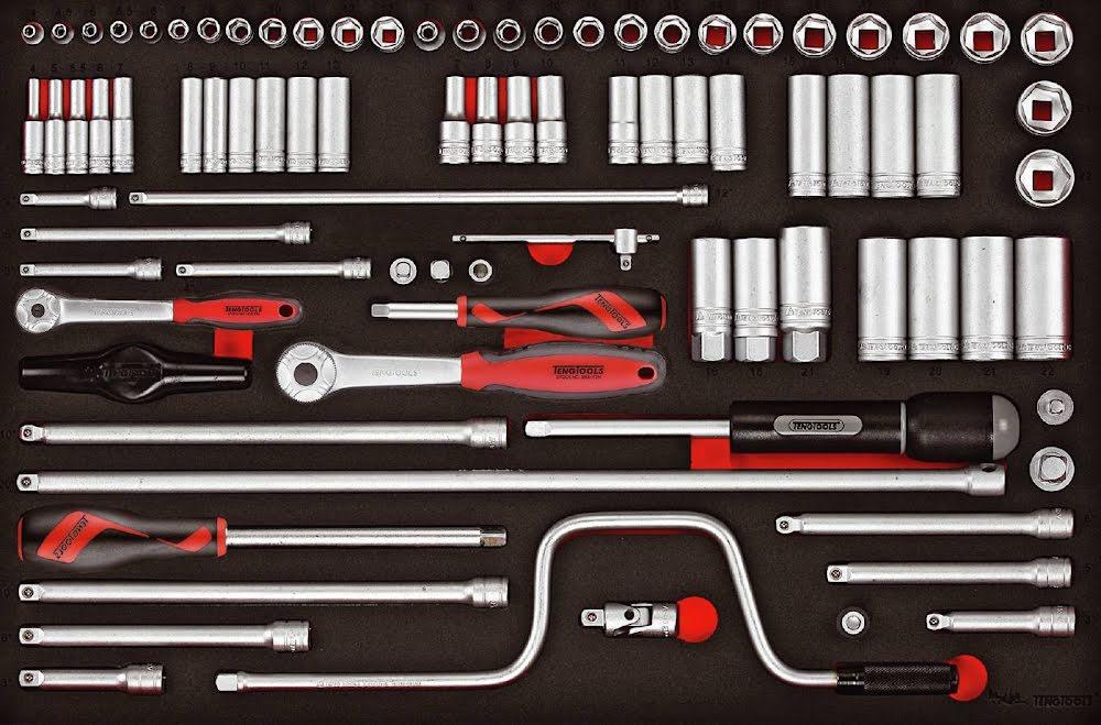 verktygsats passandes i verktygslåda