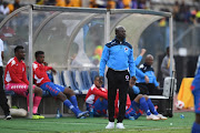 SuperSport United coach Kaitano Tembo during the MTN8 semi final 1st Leg match between SuperSport United and Kaizer Chiefs at Lucas Moripe Stadium on August 26, 2018 in Pretoria, South Africa.