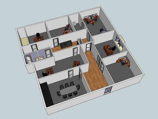 3Dモジュラーホームフロアプラン