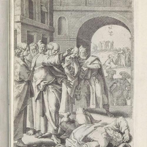 dood ananias en saffira maerten de vos 1591 1600