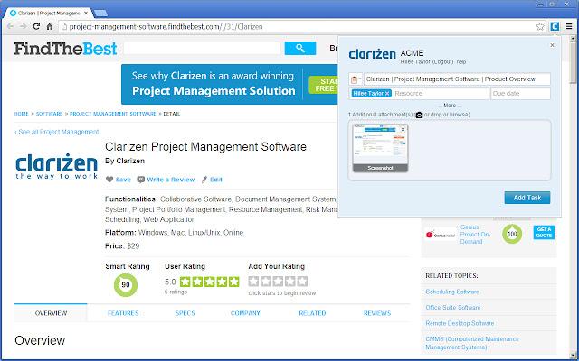 Clarizen Google Chrome™ Extension