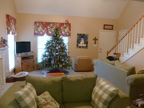 Photo: December 23: The elves turned all the living room furniture around (even Daisy's dog bed).