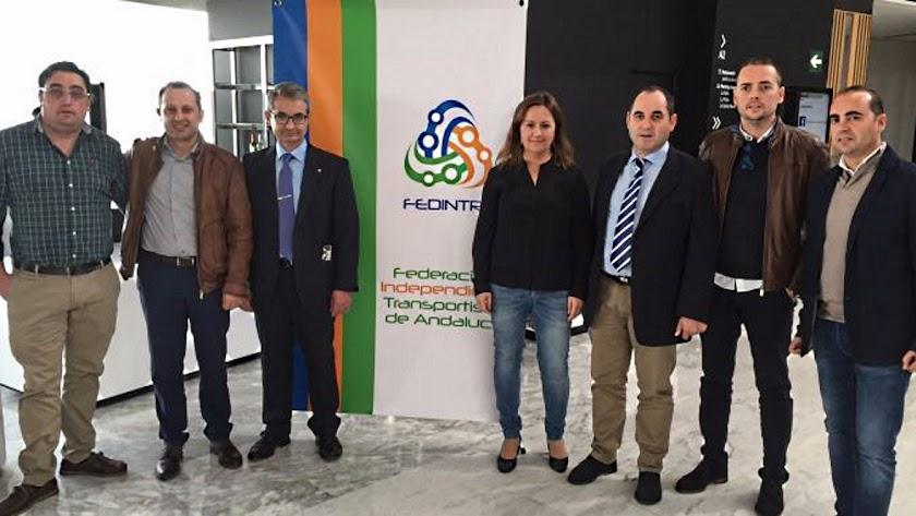 Reunión de empresas del transporte por carretera en Almería.