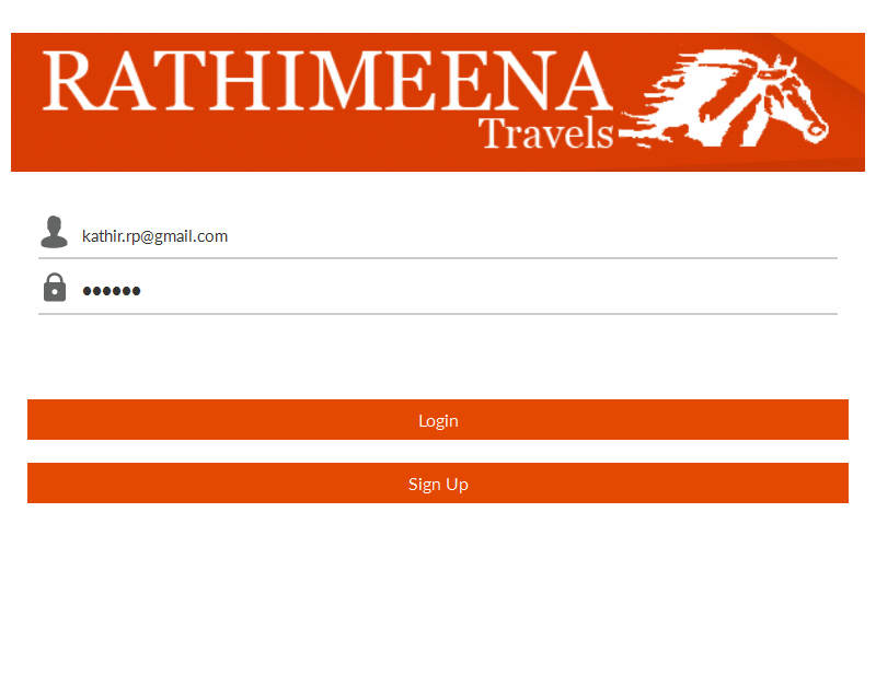 Rathimeena Travels- screenshot