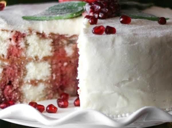 Pomegranate Christmas Cake