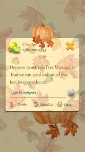 GO SMS HARVEST THEME - náhled