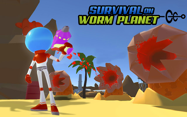 Survival On Worm Planet Game Action Game