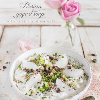 Persian Cold Yogurt Soup with Raisins (Abdoogh Khiar) Recipe