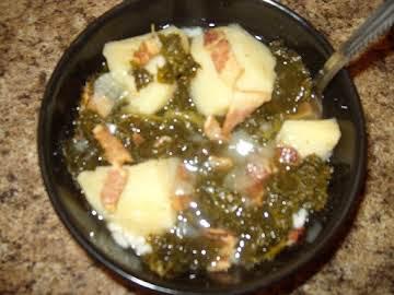 Emilie's Homemade German Kale Soup