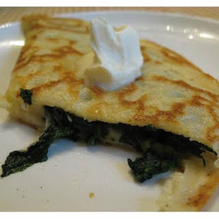 Spinach - Filled Crepes.