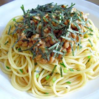 Easy Natto Spaghetti