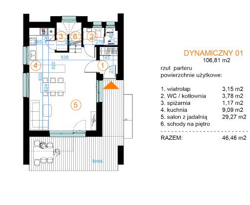 Dynamiczny 01 - Rzut parteru