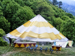 Photo: Dining tent at Handi camp