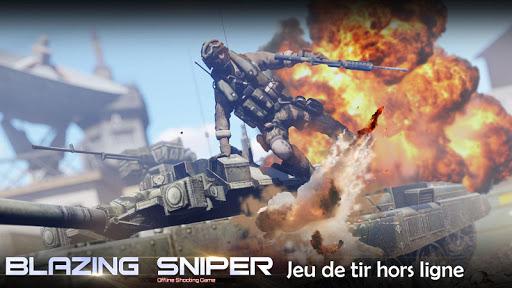 Blazing Sniper - offline shooting game  captures d'u00e9cran 1
