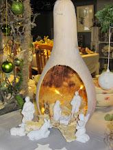 Photo: Nog zo'n bijzondere kalebas-kerststal van Mariëtte