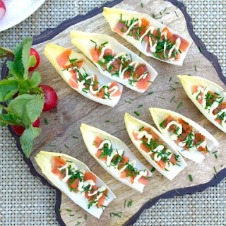Endive with Smoked Salmon Tapas