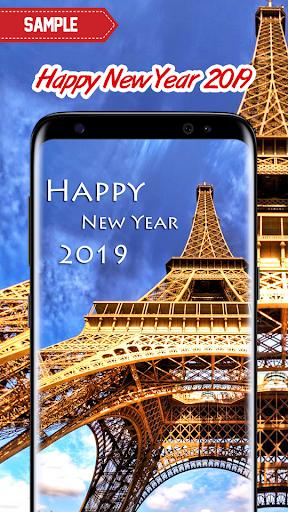 New Year 2019 Wallpaper (Eiffel) 2.0 screenshots 5
