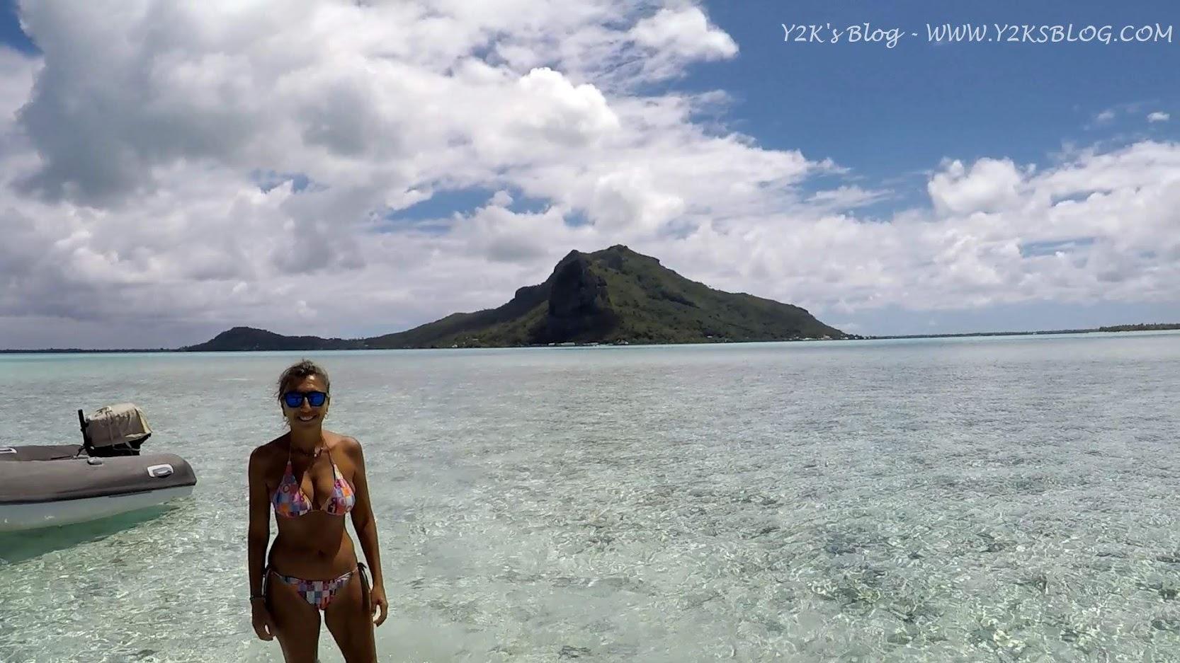 A passeggio per Motu Tiapaa e Monte Teurafaatui sullo sfondo - Maupiti