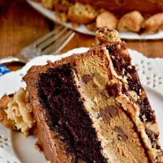 Chocolate Peanut Butter Cookie Cake.