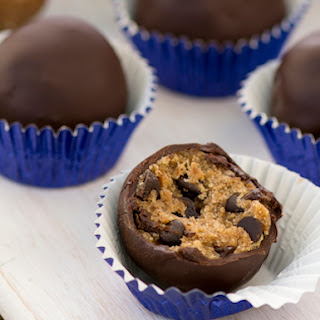 Raw Chocolate Chip Cookie Dough Truffles.