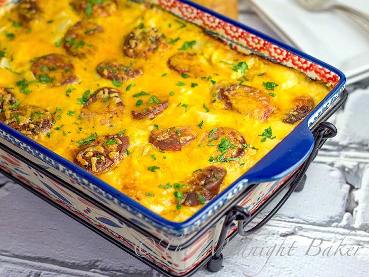Cheesy Kielbasa Potato Casserole Recipe