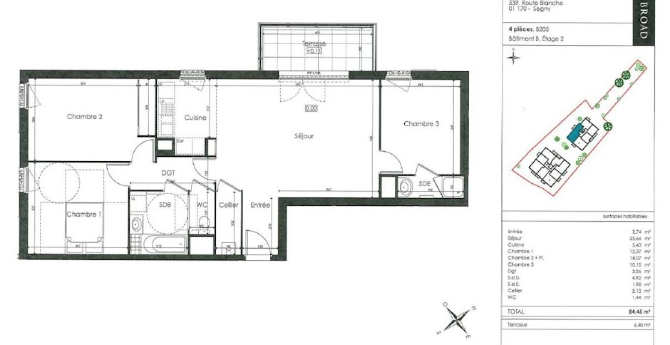 Location  appartement 4 pièces 85 m² à Segny (01170), 1 328 €