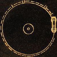 Voyager spacecraft gold disc
