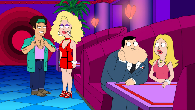 Photo: AMERICAN DAD: Stan and Francine travel back in time to find out who Francine had an affair with in the all-new ÒThe Kidney Stays In The PictureÓ episode of AMERICAN DAD airing Sunday, April 1 (9:30-10:00 PM ET/PT) on FOX.  AMERICAN DAD ª and © 2012 TCFFC ALL RIGHTS RESERVED.
