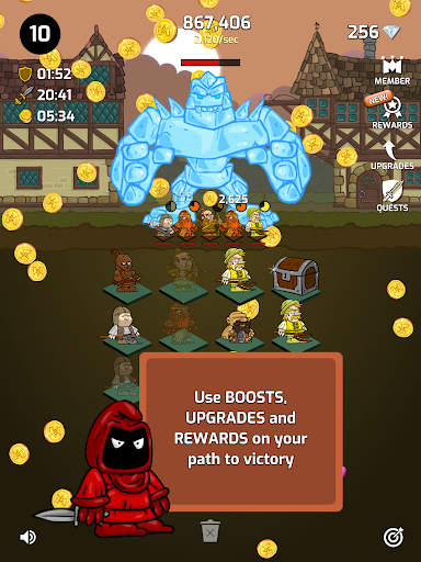 Merge Wars - Idle Hero Tycoon apkmind screenshots 14