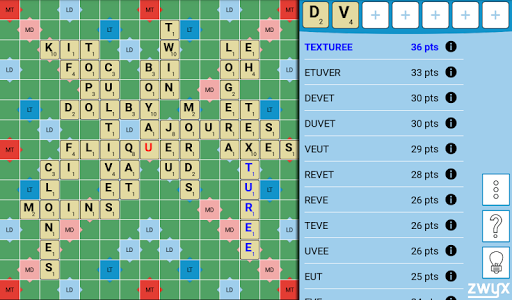 Zwyx - Assistant scrabble duplicate 4.0.2 screenshots 16