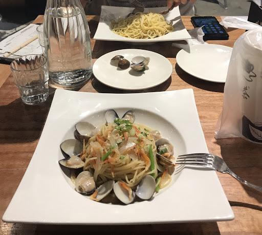 櫻花蝦蛤蜊義大利麵 新品 好吃