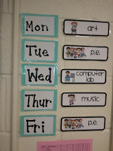 Photo: weekly schedule for outside-class activities