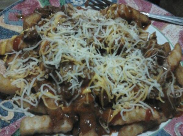Crispy Baked Chili (very) Cheesy Fries!!! Recipe