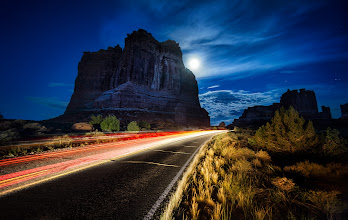 Photo: Leaving Moab like a thief of light in the night...  This is part of Arches National Park. Wow I haven't spent nearly enough time here -- but that just means I get to come back some day!! :)