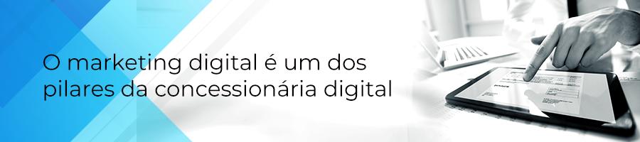 O marketing digital é um dos pilares da concessionária digital