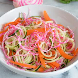 Cucumber Beet Noodle Salad Recipe