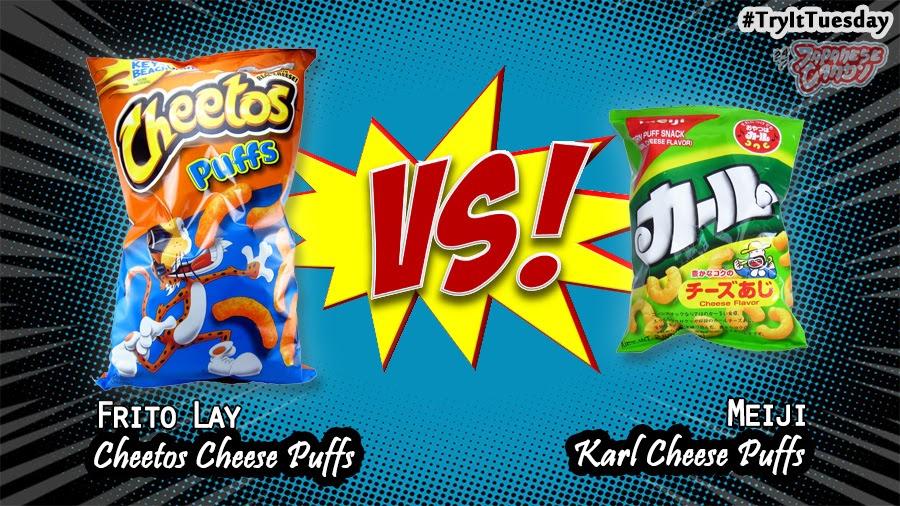 Review - Frito Lay Cheetos Cheese Puffs VS Meiji Karl Cheese Puffs
