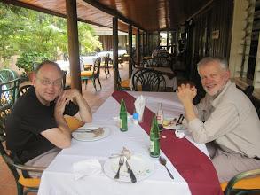 Photo: Peter and Theo at Izaak Walton Inn in Embu